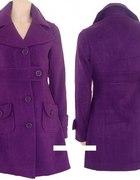 płaszczyk retro fioletowy