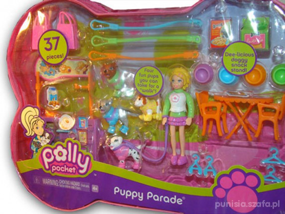 Zabawki POLLY POCKET Puppy Parade mega zestaw 26sztuk