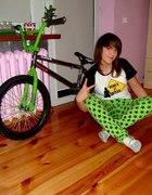 Kreacja na rower z moim easternem...