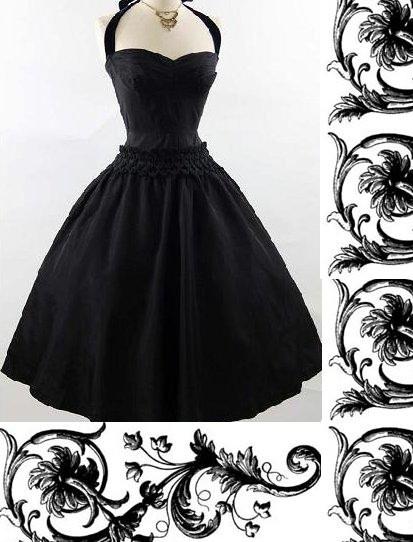 Suknie i sukienki Diabelsko czarna
