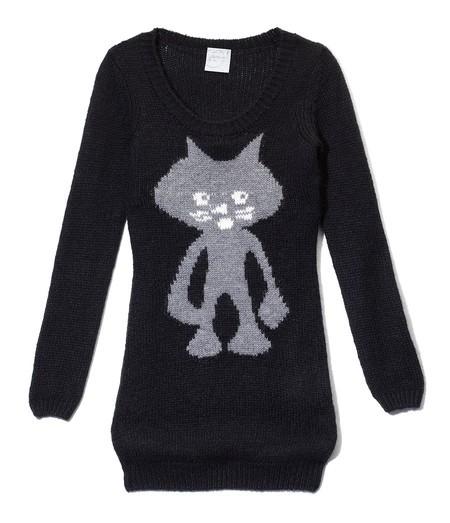 Mój styl sweterek z kotem house