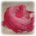 Różowa cieniowana apaszka