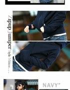058 Granatowa Bluza Kurtka LOEL Japan Style Grati