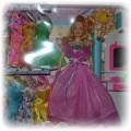 Nowy zestaw lalka z sukienkami i toaletką