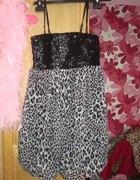 Bombka sukienka w panterkę Taboo cekiny cętki...