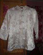 Jedwabna chińska bluzka tunika kwiaty...