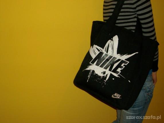 San Francisco najlepszy dostawca eleganckie buty nowa torba Nike czarna duza XXL w Torebki na co dzień - Szafa.pl