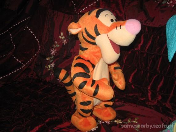 Zabawki tygrysek podskakuje i mowi
