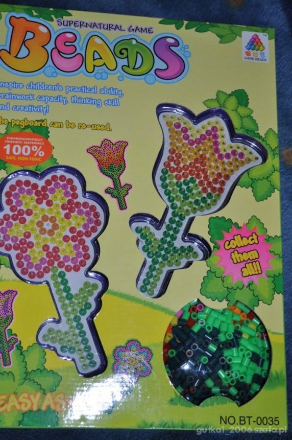 Zabawki Nowa układanka prasowanka koraliki