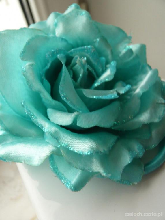 Gumka do wlosow miętowa róża