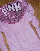cukierokowo rózowa cekinowy kaptur pink r36