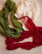 Zielona czerwona biała CHUSTKI...