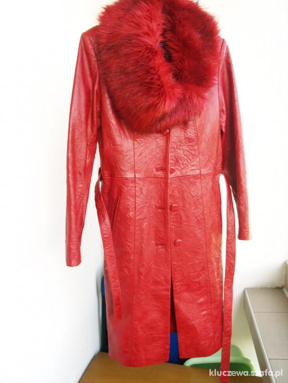 Odzież wierzchnia Śliczny skórzany płaszcz całoroczny
