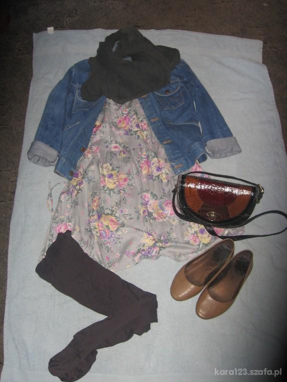 Mój styl jeans i kwiaty