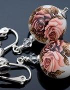różane klipsy