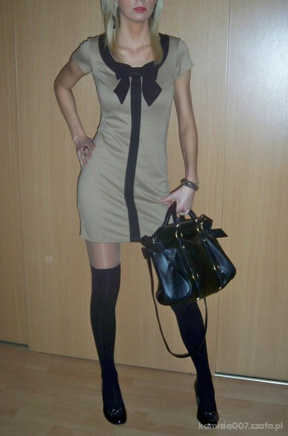 Mój styl Sukienka DP z z kokardką