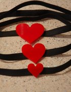 Opaska z plastikowym sercem 3 wielkosci serduszek