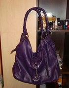 fioletowa torebka z serduszkami