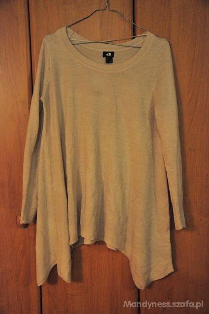Asymetryczny sweter tunika HM