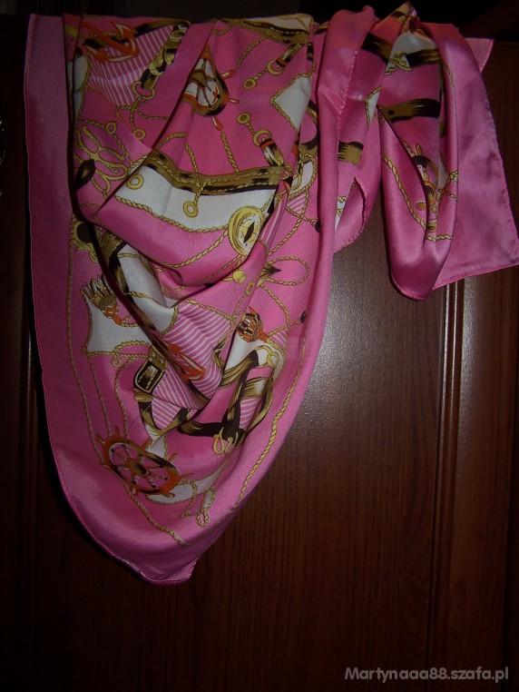 Chusty i apaszki Orginalna różowo złota chusta