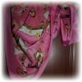 Orginalna różowo złota chusta