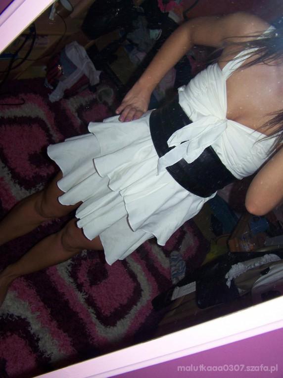 Imprezowe Moje sukienczki falbanka i pantera