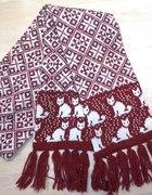 Wełniany szalik norweski wzór