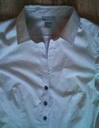 Pudrowa elegancka koszula HM XS pudrowy róż bufki