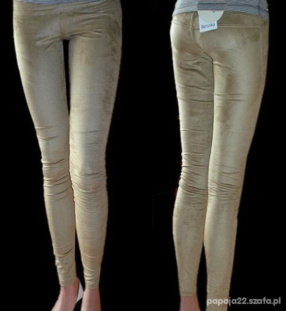 Legginsy nowe zamszowe legginsy bershka