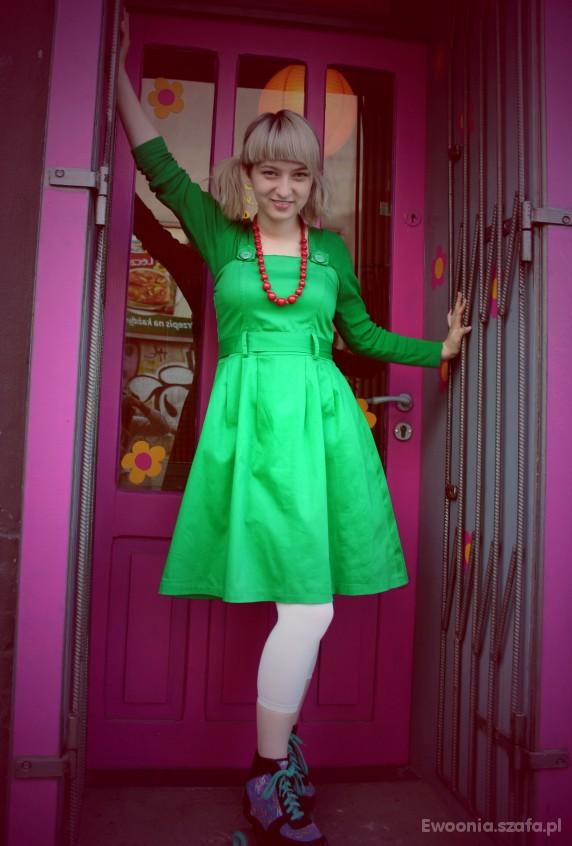 Mój styl Zielona Sukienka