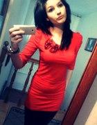 czerwona tunika