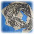 Apaszka chusta panterka beżowa