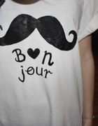 koszulka moustache wąsy