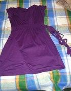 fioletowa sukienka 44 46 48 50