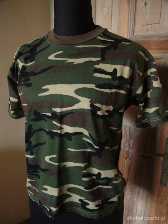 Koszulki, podkoszulki Chłopięca koszulka moro rozmiar S
