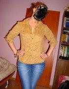 koszula nude lace brąz hm
