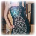 sukienka tunika z koronką