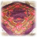 Ludowa chusta ciemny fiolet