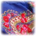 granatowa folkowa chusta