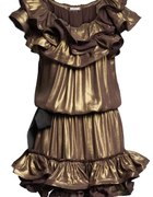 Gold dress...