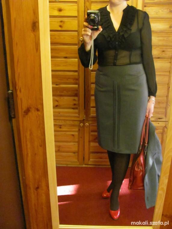 Do pracy BLACK RED Biurowo elegancko odważnie