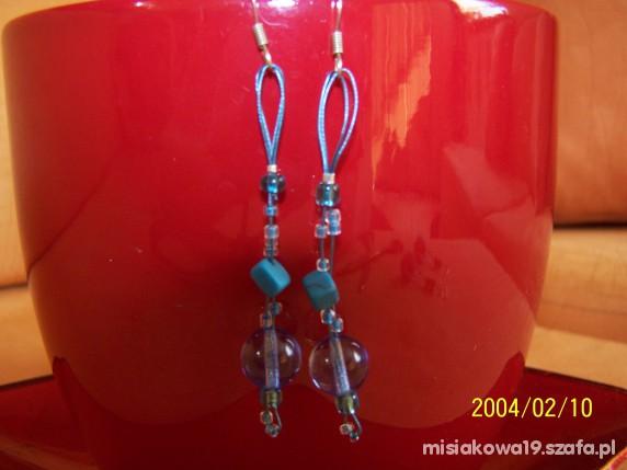 Kolczyki handmade turkusowe...
