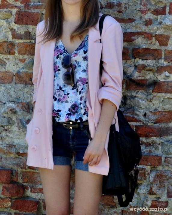 blazer pudrowy róż