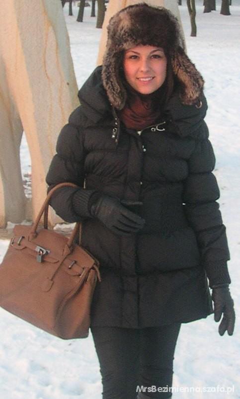 Odzież wierzchnia czarna pikowana kurteczka zara