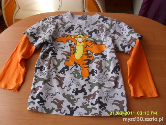 Koszulki, podkoszulki super koszulka z tygryskiem