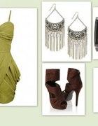 oliwkowa sukienka