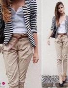 13 beżowe spodnie