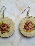 Kolczyki decoupage floral
