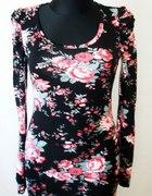 Tunika sukienka bufki kwiaty na wiosnę