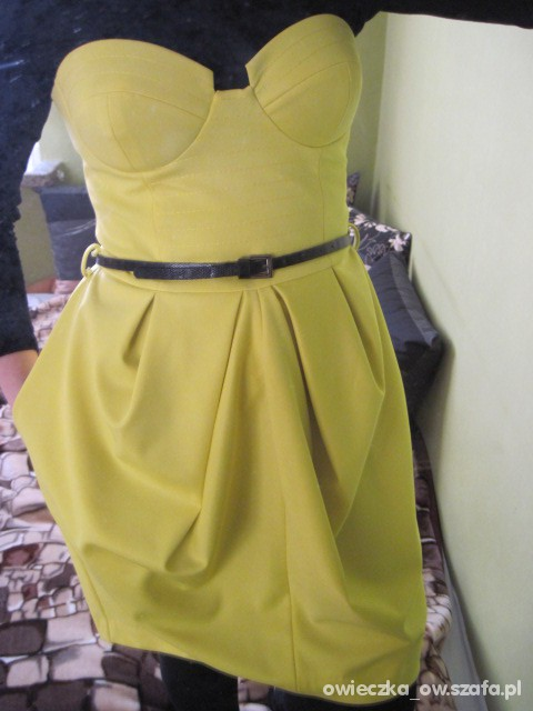 Na specjalne okazje żółta sukienka